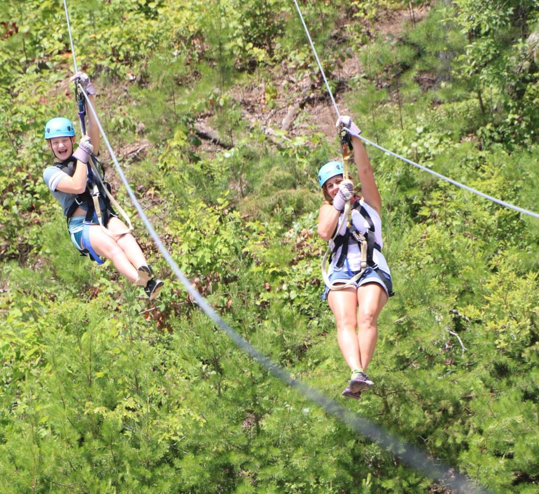 Double zipline fun with Ocoee Canopy Tours in Ducktown, TN