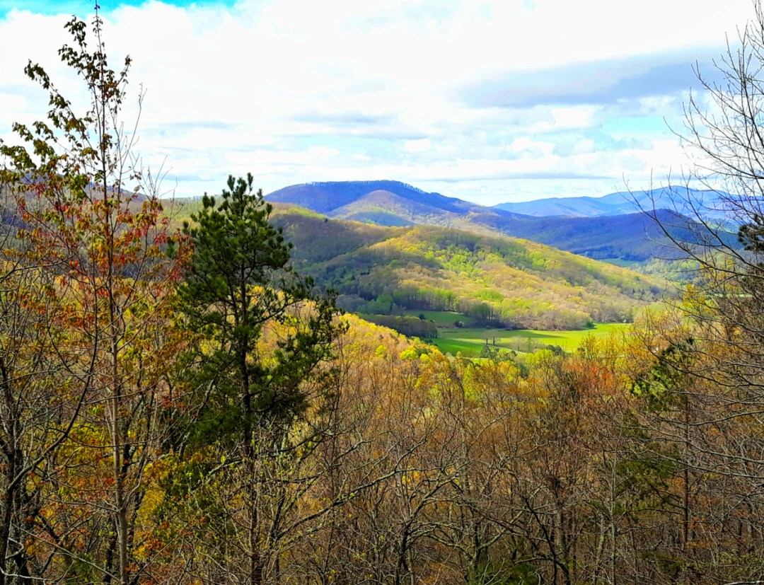 Spring view in north georgia mountains