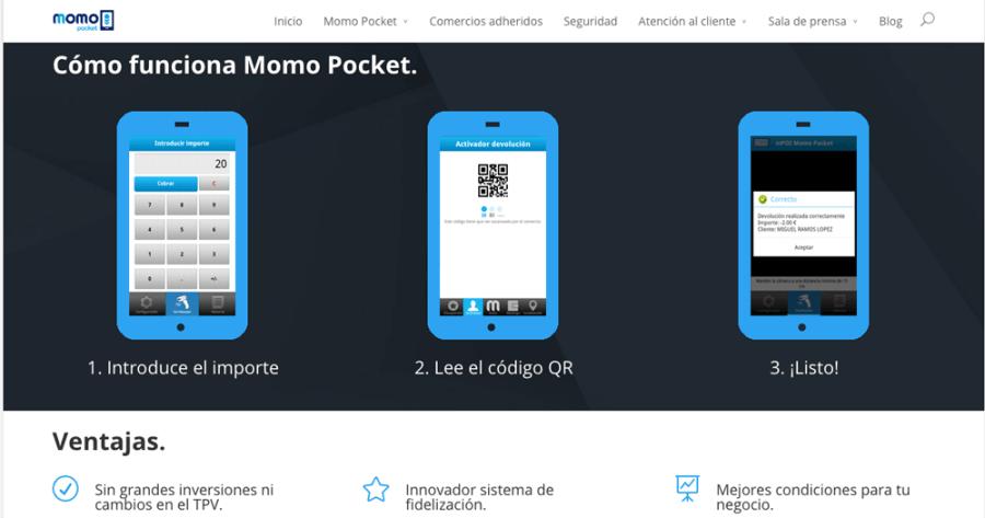 Momopocket está disponible tanto para los comercios como para los particulares