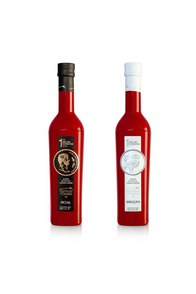 Botella roja de Castillo de Canena.