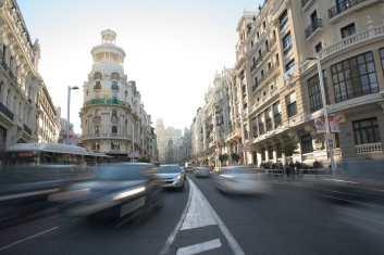 Movilidad urbana en Madrid.