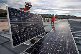 Construcción del parque solar de Endesa en Totana