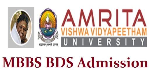 Amrita MBBS BDS Admission