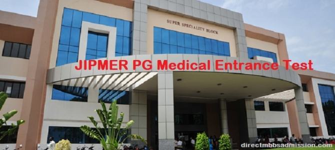 JIPMER PG Medical Entrance Test