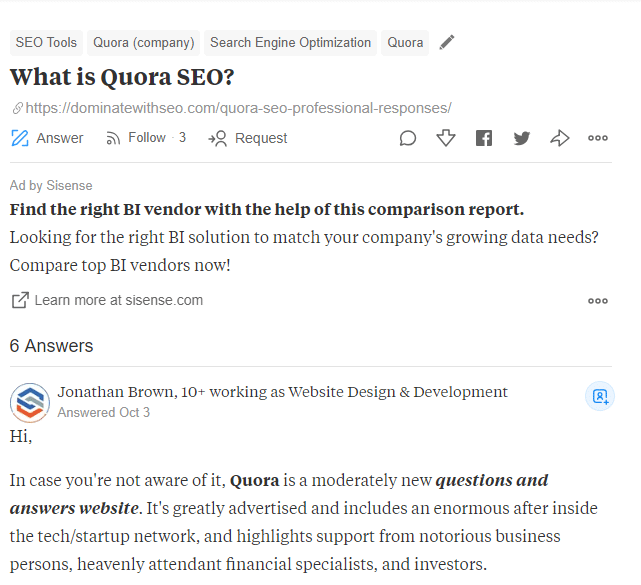 what is quora seo