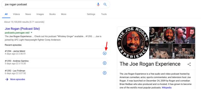 google podcast search