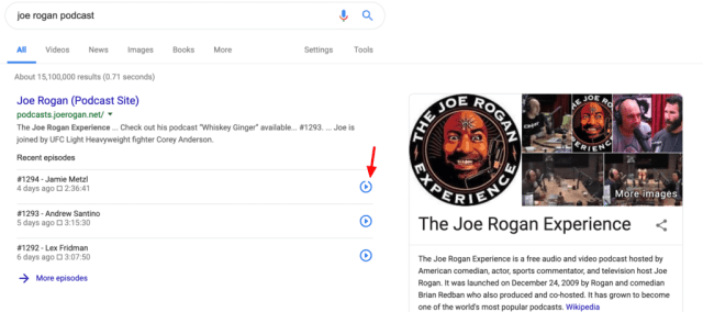 google podcast search
