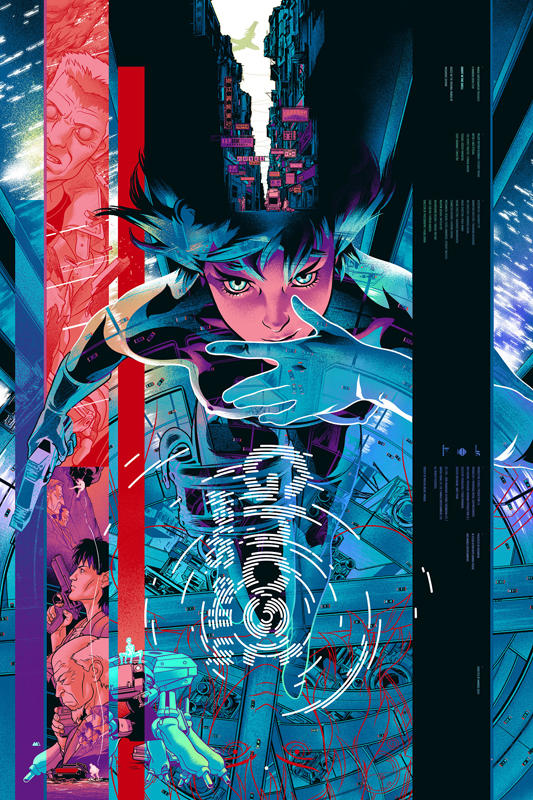 """Ghost in the Shell"" by artist Martin Ansin.  Foil Version.  24""x36"".  Edition of 325."
