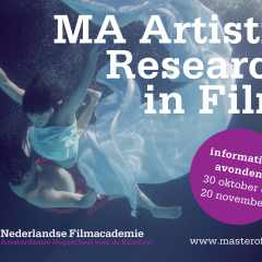 Master's Degree – Artistic Research in Film (MA) – call for applications