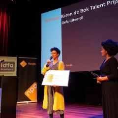 Emma Lesuis wint Karen de Bok Talent Prijs 2019