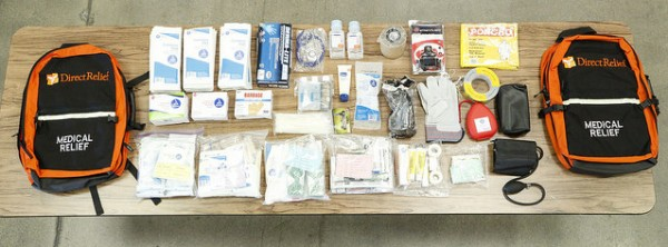 The kits contain supplies and equipment to meet a variety of disaster-related health needs Photo by Mark Semegen.