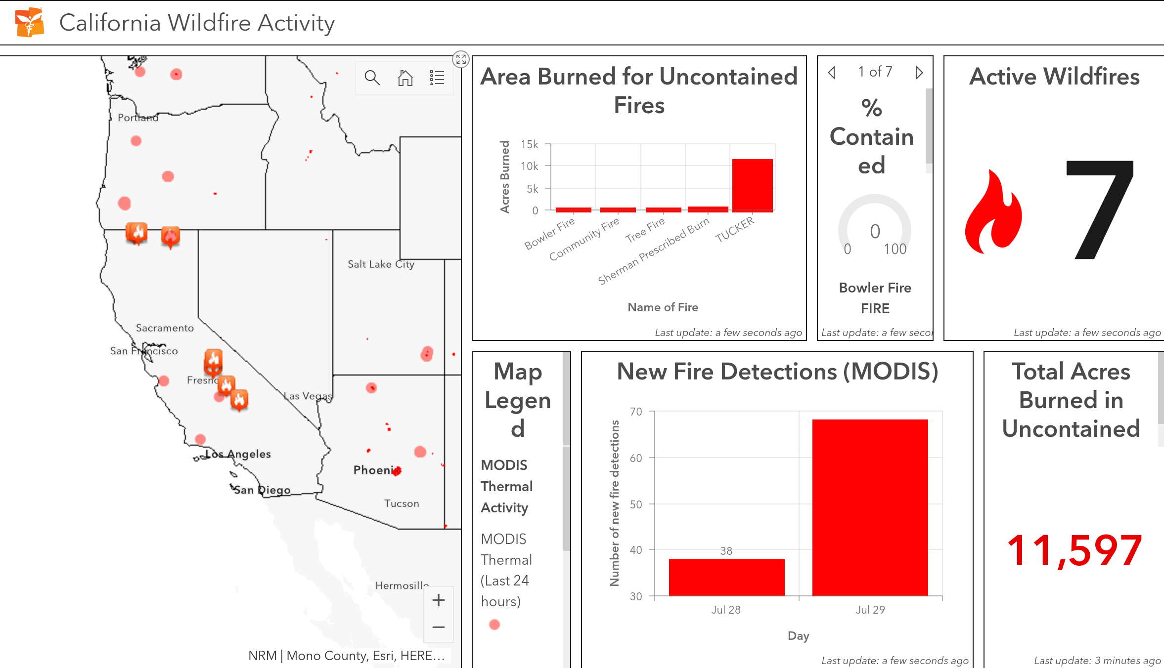 California Fire Map Data