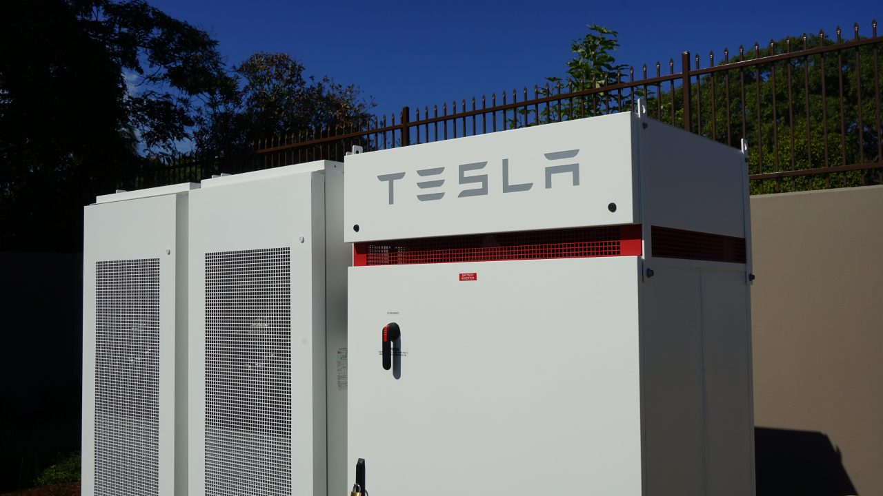 Direct Relief's new headquarters features a Tesla micro-grid system with 999 solar panels that allows the organization to remain online through power outages. (Photo by Tony Morain/Direct Relief)