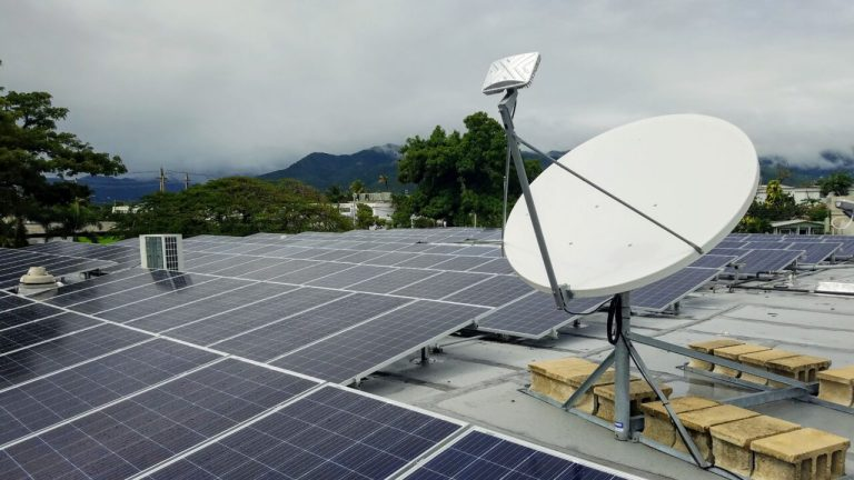 A Direct Relief-funded solar power and battery system at Centro de Salud Familiar health center in Arroyo, Puerto Rico, is scheduled to come online by Hurricane Season 2019 (Anna Carla Lopez-Carr/Direct Relief)