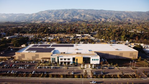 Direct Relief's 155,000-square-foot headquarters and humanitarian distribution center for charitable medicine. (Photo by Donnie Hedden for Direct Relief)
