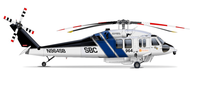 A rendering by the Santa Barbara County Fire Department of the new Firehawk.