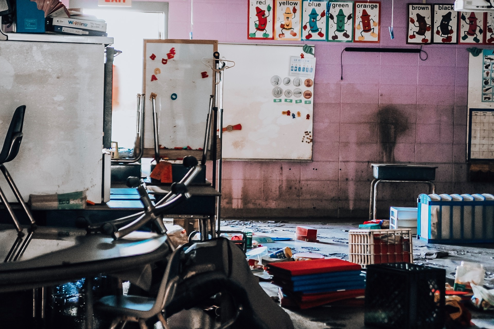 Classrooms in an Eastern Oklahoma school district were inundated with floodwater, concerning local health officials. (Photo courtesy of Stigler Health and Wellness)