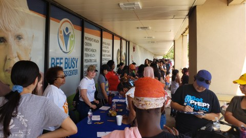 A recent heath fair in Houston organized by Bee Busy Wellness Center and Azeb Yusuf. (Courtesy of Azeb Yusuf)