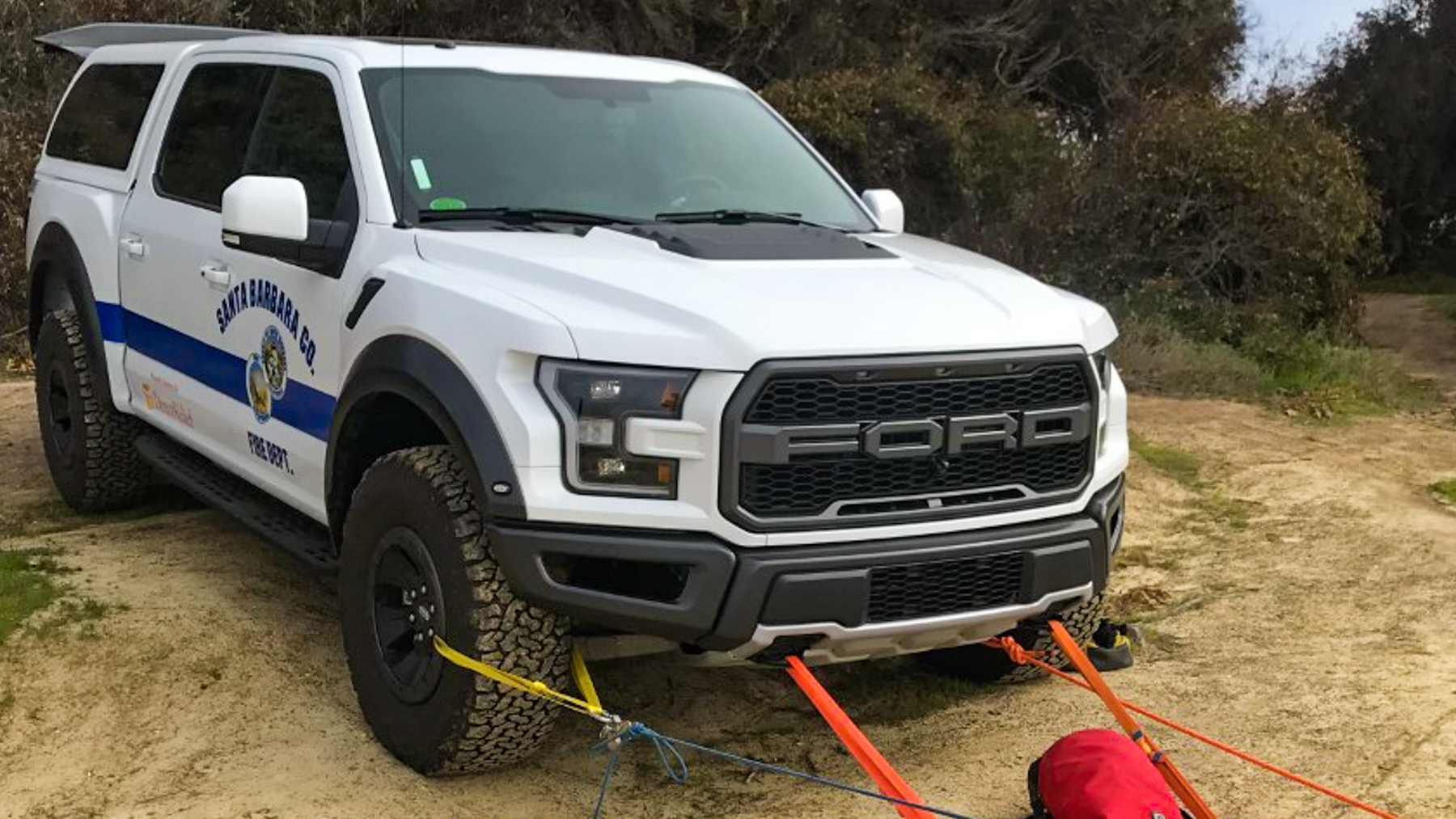 Santa Barbara County Fire Department's new Ford Raptor. (Photo Courtesy of the Santa Barbara County Fire Department)