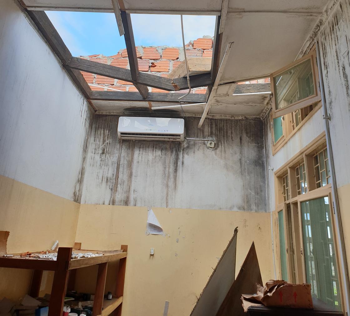 Beira's Mascarenhas Hospital after Cyclone Idai. (Photo Courtesy of Health Alliance International)