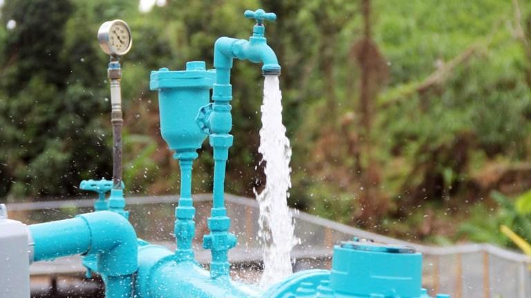 A solar-powered water pump in Puerto Rico's Las Piedras community. (Photo by Dori Lozada for Direct Relief)