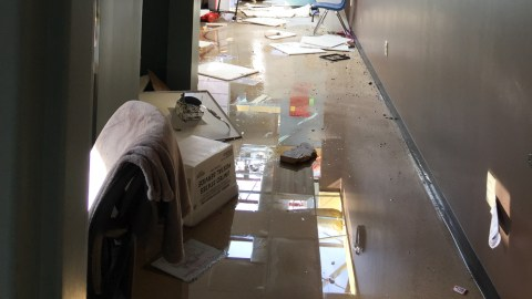 Images of Neighboorhood Health's Easside Clinic following a tornado in March 2020. (Photo Courtesy of Ivan Figuerdo/ Neighborhood Health)