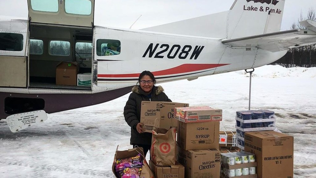 Supplies arrive in the community of Red Devil, Alaska. (Photo courtesy of The Kuskokwim Corporation)