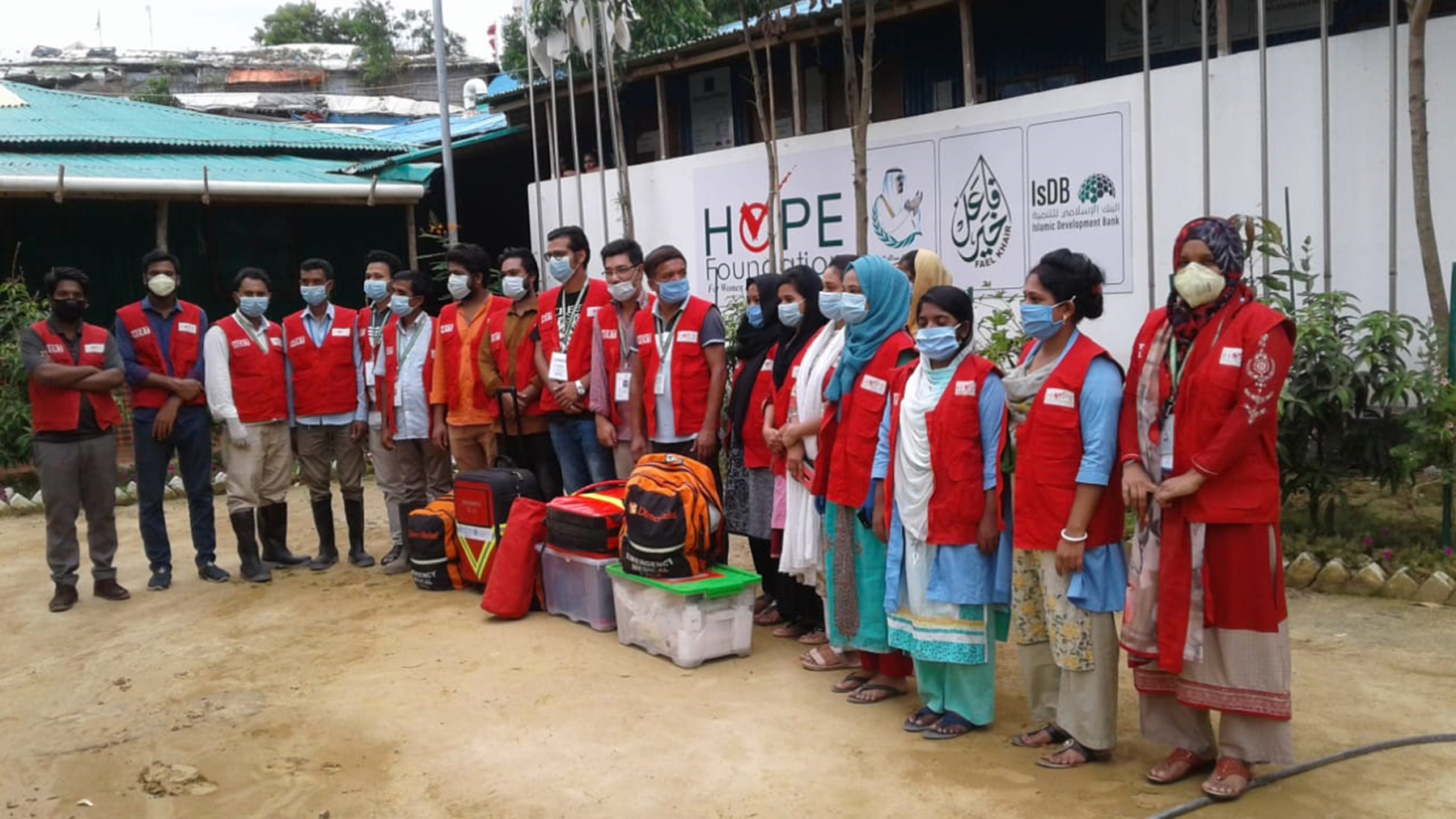 Health workers prepare to respond to Cyclone Amphan. (Photo courtesy of Dr. Iftikher Mahmood)