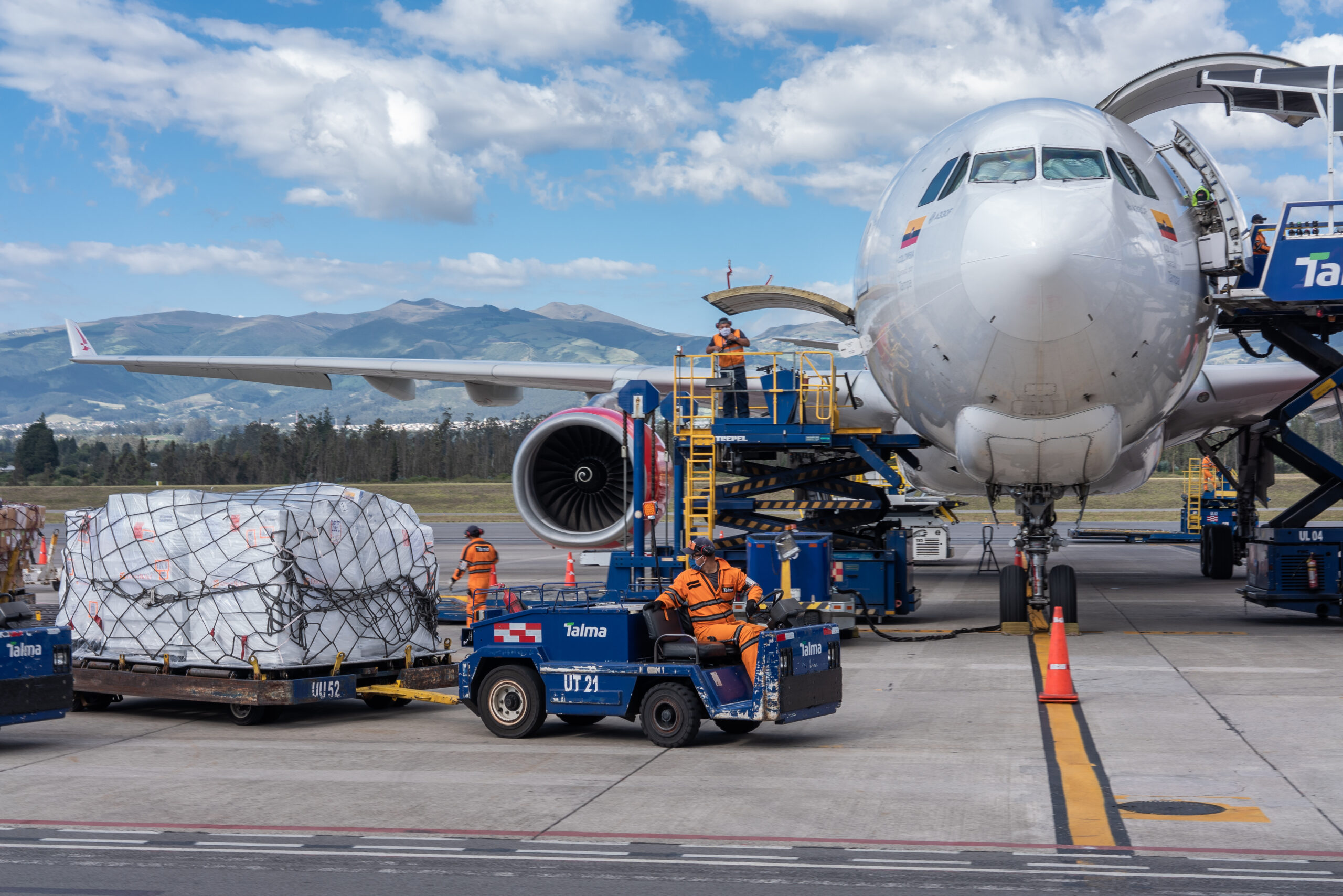 8.8 tons of Covid-19 medical aid from Direct Relief arriving in Ecuador on June 4, 2020. (Isadora Romero for Direct Relief)