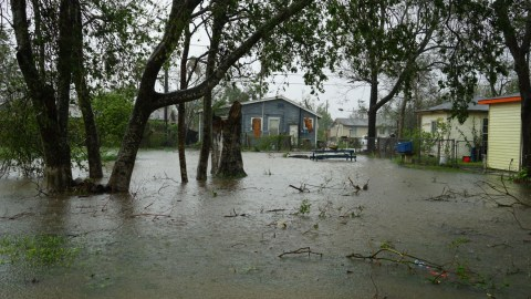 Hurricane Harvey battered the Texas coast in August 2017, causing major flooding, property damage, and loss. (Bryn Blanks/Direct Relief)
