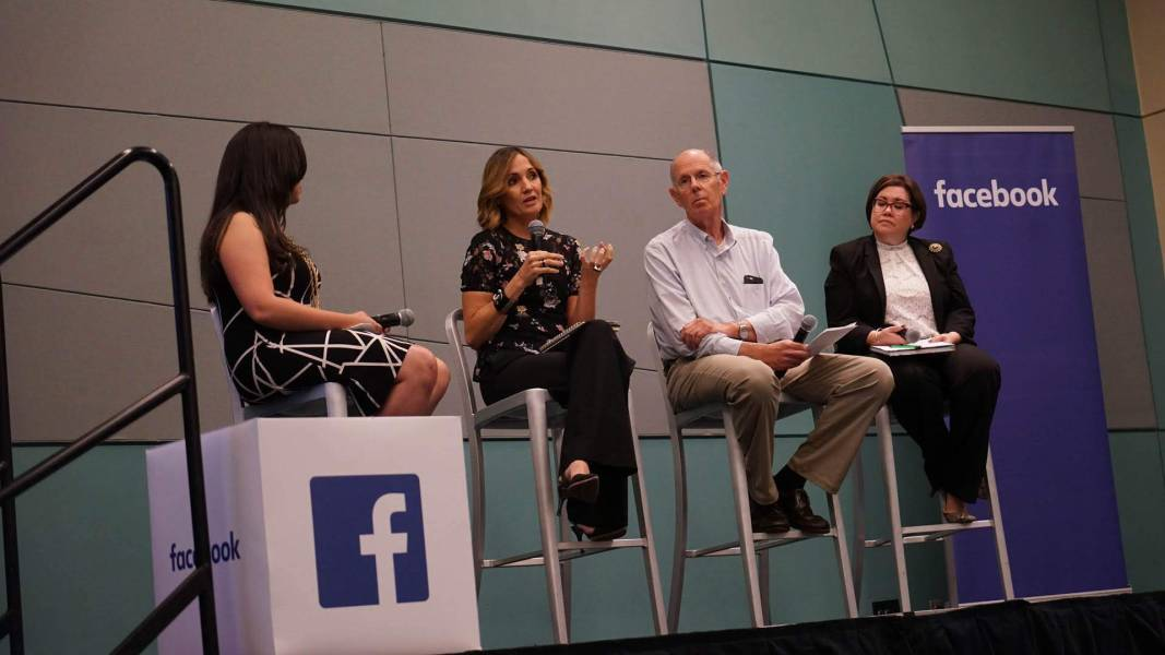 Direct Relief's Ivonne Rodriguez discusses how technology shaped the Hurricane Maria response during Facebook's Disaster Response Workshop in San Juan on Tuesday, July 17. (Bryn Blanks/Direct Relief)