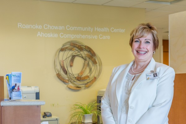 Roanoke Chowan Community Health Center CEO Kim Schwartz helped start the remote patient monitoring program. BD Photo.