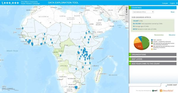 A Map Of Community Health Workers In Sub Saharan Africa Direct Relief