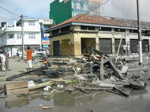 An Indonesian town was one of many devastated by the 2004 tsunami that swept through the region.