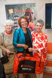 From left to right - Direct Relief Woman of the Year Award Winner, Bobbie Rubin; Special Guest, Frances Day-Stirk, President of the International Confederation of Midwives; and Mari Mitchel, past chair of Direct Relief Women Photo: Isaac Hernández for Direct Relief/©2015 IsaacHernandez.com