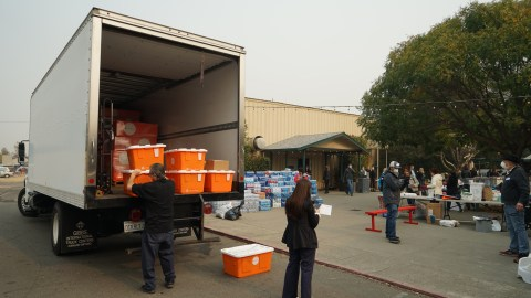 Medical aid is delivered to those impacted by the Camp Fire in Northern California on Nov. 14, 2018. (Dan Hovey/Direct Relief)