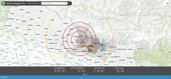 Nepal Aid Map - Direct Relief