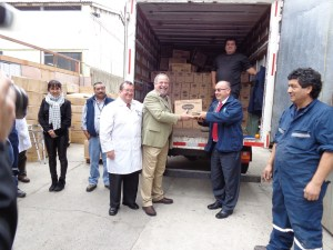 Nutritional supplies like Pedialyte are one of the items sent to people in need in Chile. Photo courtesy of FEDES>