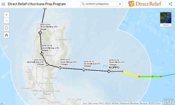 Typhoon Lando Map - Philippines