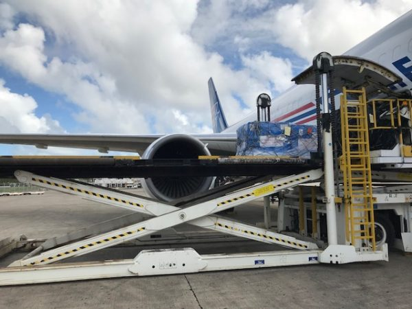 aircraft lands at puerto rico airport