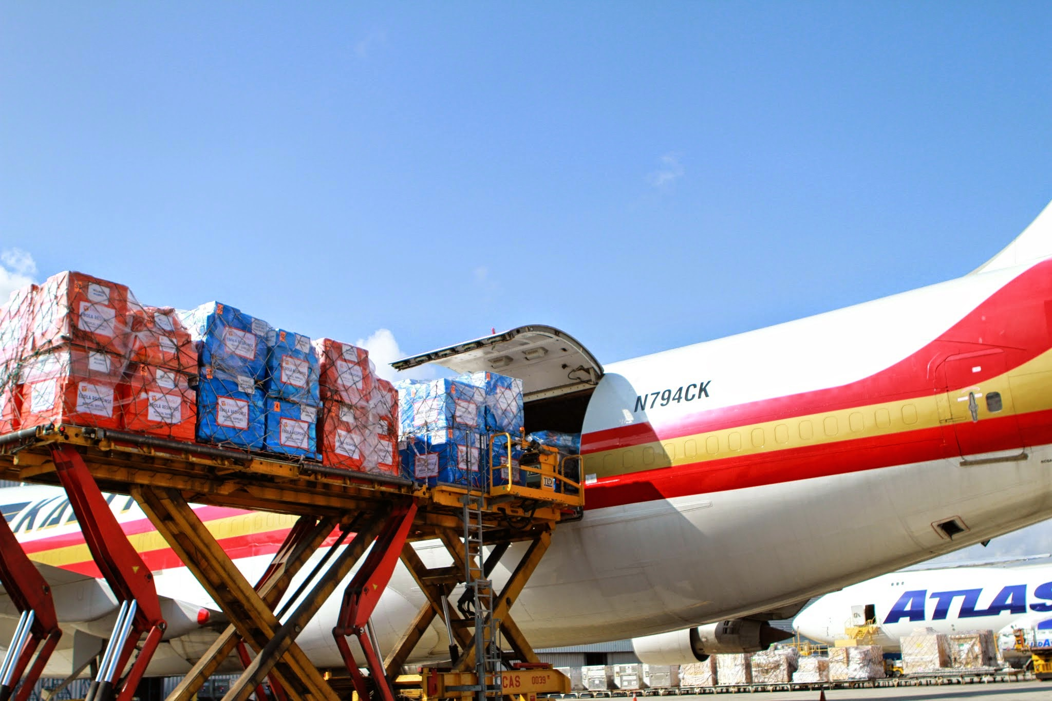 Direct Relief-charter with 100 tons of emergency supplies for West Africa (Sept 2014)