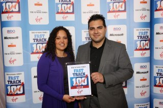 Direct Traveller Awarded As 77th Fastest growing co. At Sunday Times Virgin Fasttrack league Tables, at Richard Branson's home.