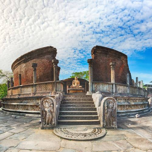 The Polonnaruwa Vatadage in the world heritage city Polonnaruwa, Sri Lanka