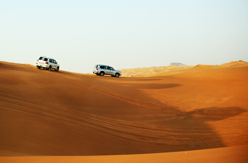 The Dubai Desert Trip In Off-road Car
