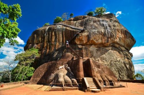 Sigiriya Lion Rock in Sri Lanka