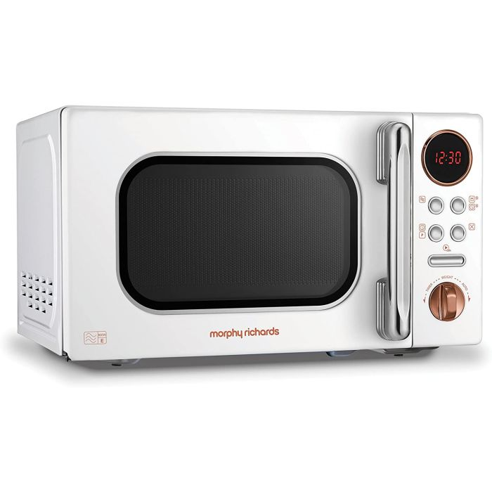 morphy richards 511504 new standard microwave oven 20l 800w white rose gold
