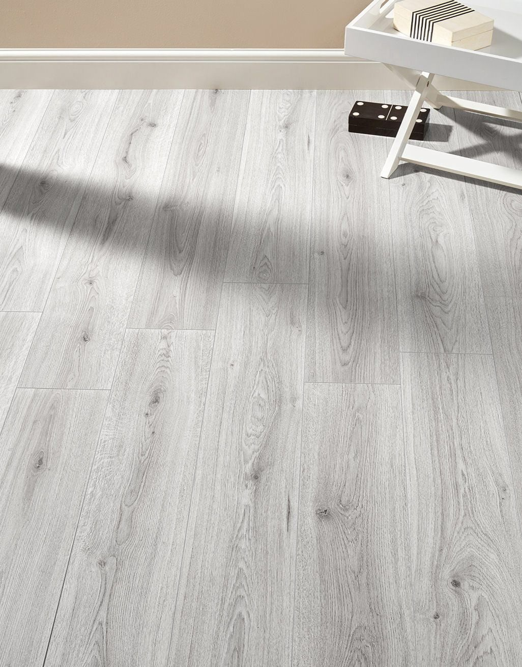Farmhouse Light Grey Oak Laminate Flooring Direct Wood Flooring