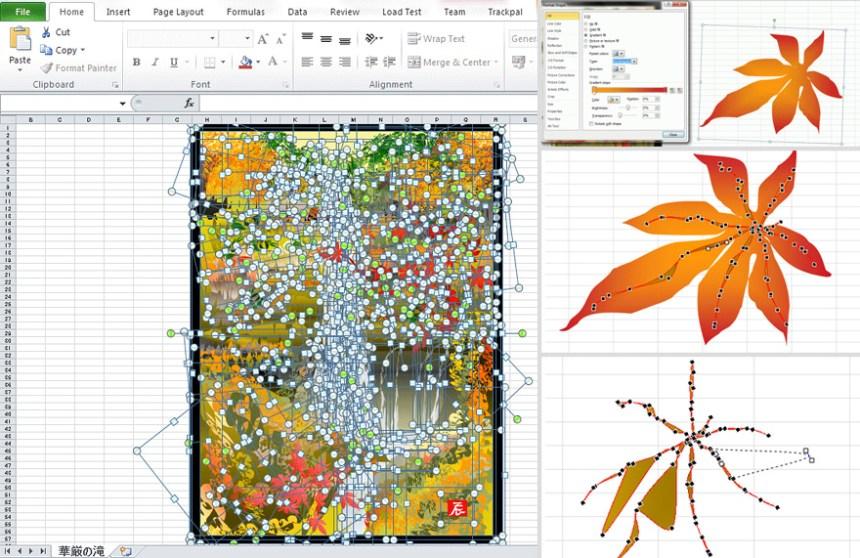 Tatsuo Horiuchi, artista giapponese che dipinge con Microsoft Excel
