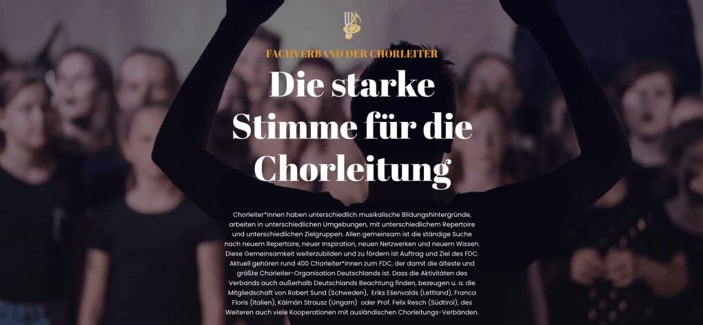 L'Associazione dei Direttori di Coro Tedeschi (FDC)