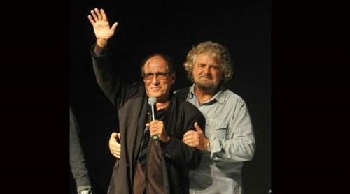 Celentano Grillo sanremo2012 500x278 Siamo il Paese dei Grillo e dei Celentano
